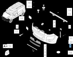 Paraurti anteriore primerizzato per Fiat e Fiat Professional