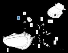 Lampadina proiettore anteriore H15 55/15W 12V