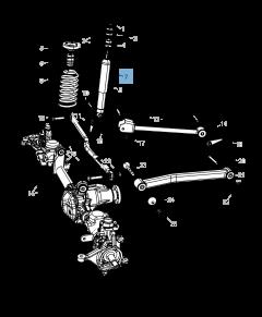 Ammortizzatore per Jeep Wrangler