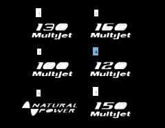 Sigla modello 120 MultiJet laterale per Fiat Professional Ducato