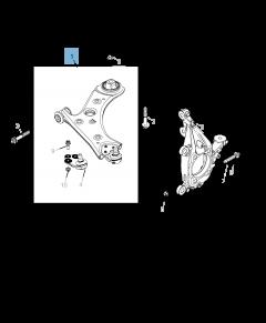 Braccio oscillante per sospensione inferiore per Jeep Compass