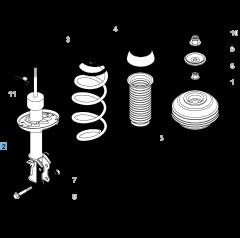 Ammortizzatore anteriore sinistro per Fiat e Fiat Professional