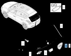 Sigla modello Lancia Delta Posteriore