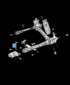 Ammortizzatore posteriore per Lancia Voyager