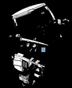 Spazzola tergicristallo posteriore per Jeep Grand Cherokee