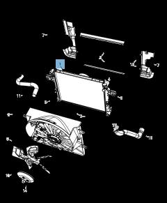 Radiatore per raffreddamento motore per Jeep