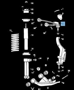 Braccio oscillante per sospensione anteriore superiore per Jeep Cherokee
