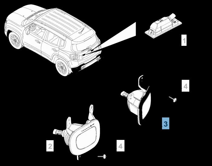 Mopar Store Fanale Retromarcia Per Jeep Renegade