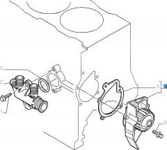 Pompa acqua con guarnizione per Fiat e Fiat Professional