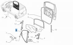 Alzacristallo elettrico anteriore destro per Fiat Professional Fiorino