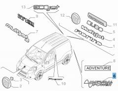 Sigla Natural Power posteriore per Fiat e Fiat Professional