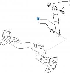 Ammortizzatore posteriore per Fiat Professional Doblo