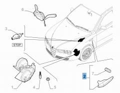 Indicatore di direzione laterale destro per Alfa Romeo