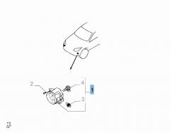Fendinebbia anteriore sinistro per Fiat e Fiat Professional