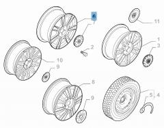 Cerchio in lega 6.5J x 16'' per Lancia Ypsilon