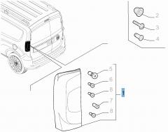 Fanale posteriore sinistro fisso per Fiat e Fiat Professional