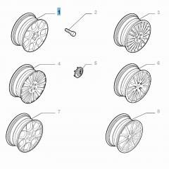 Cerchio in lega 7J x 16'' per Alfa Romeo 159
