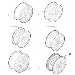 Cerchio in lega 8J x 18'' per Alfa Romeo GT