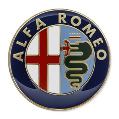 Fregio Alfa Romeo cofano motore per Alfa Romeo