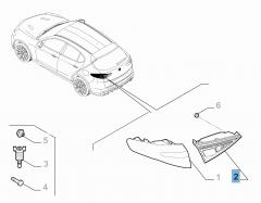 Fanale posteriore sinistro mobile per Alfa Romeo Stelvio