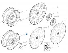 Cerchio in lega 7J x 16'' per Fiat e Fiat Professional