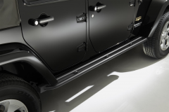 Predellini neri pedane laterali sottoporta per Jeep Wrangler