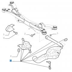 Braccio oscillante sinistro per sospensione posteriore per Alfa Romeo