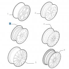 Cerchio in lega 7J x 17'' per Alfa Romeo GT