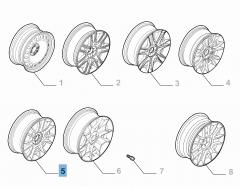 Cerchio in lega 7J x 17'' H2