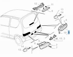 Fanale posteriore destro per Fiat e Fiat Professional