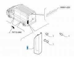 Fanale posteriore sinistro per Fiat e Fiat Professional