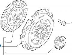 Kit frizione (disco, spingidisco e cuscinetto reggispinta) per Lancia Ypsilon
