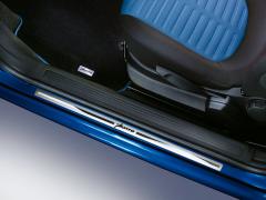 Battitacco in acciaio con stampa logo per Fiat
