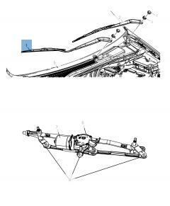 Spazzola tergicristalli anteriori per Town&Country/Voyager