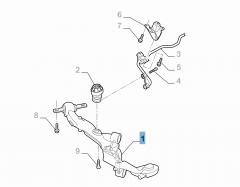 Braccio oscillante sinistro per sospensione longitudinale posteriore per Fiat e Fiat Professional