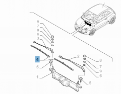 Kit 2 spazzole tergicristalli anteriori per 500