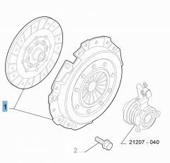Kit frizione (disco e spingidisco) per Abarth 500