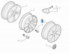 Cerchio in lega 6.5J x 17'' ET 41 per Fiat Linea