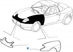 Parafango anteriore sinistro per Fiat Barchetta (1995-2004)