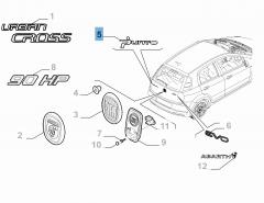 Sigla modello Punto per Fiat