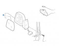 Specchietto retrovisore esterno sinistro elettrico per Fiat Professional Scudo