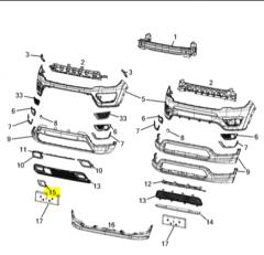 Mostrina paraurti anteriore Jeep