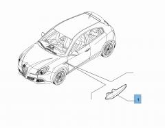 Indicatore di direzione laterale sinistro per Alfa Romeo Giulietta