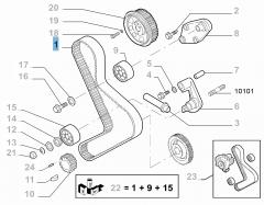 Cinghia di distribuzione per Fiat Professional Ducato