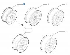 Cerchio in acciaio da 6.5J x 16'' per Fiat Croma