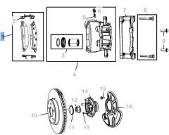 Pastiglia freno disco anteriore (Set 4 pezzi) per Lancia Thema