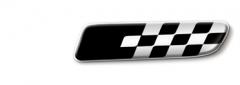 Badge Sport Nero Fondo Bianco