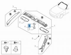 Lampadina plafoniera anteriore 10W 12V