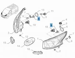 Lampadina proiettore anteriore H4 60/55W per Fiat Professional Talento
