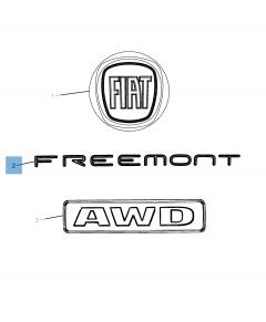 Sigla modello Freemont posteriore per Fiat Freemont